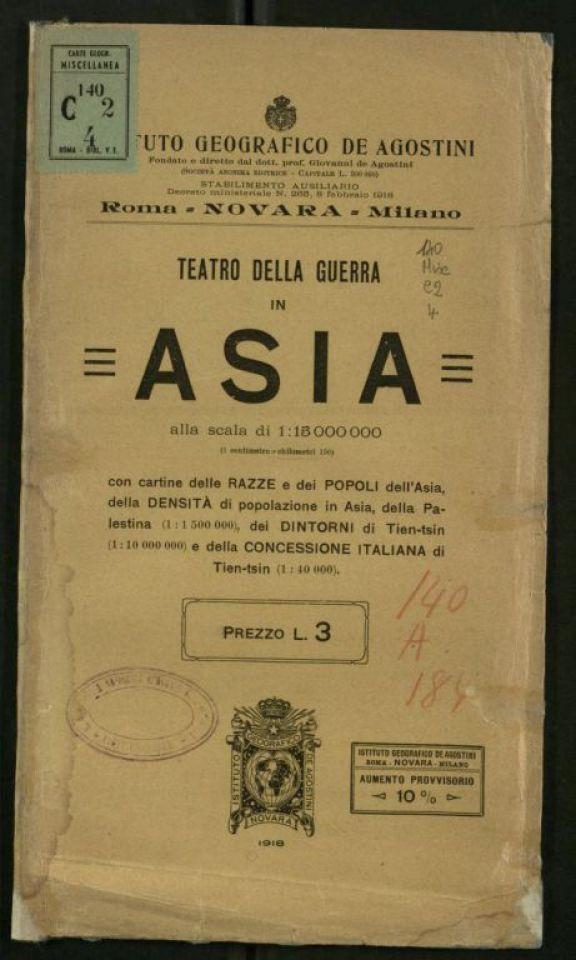 Teatro della guerra in Asia con cartine delle razze e dei popoli dell'Asia, della densit