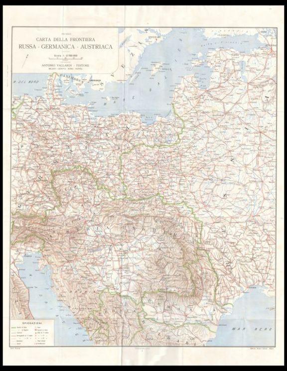 La *frontiera russa, germanica, austriaca  : carta corografica coll'indicazione delle principali fortificazioni  / Pio Galli
