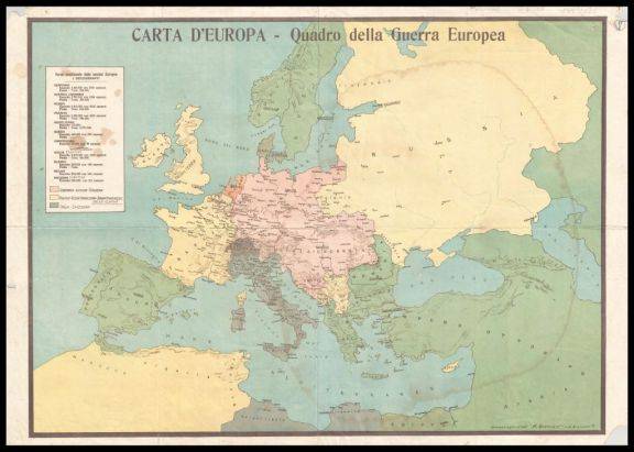 Carta d'Europa  : quadro della guerra europea