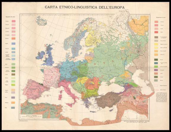 Carta etnico-linguistica dell'Europa  / A. Dardano red. e dis