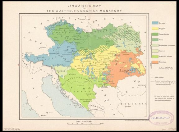 Llinguistic map of the Austro-Hungarian monarchy