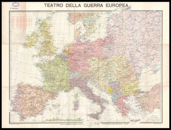 Carta del teatro della guerra europea