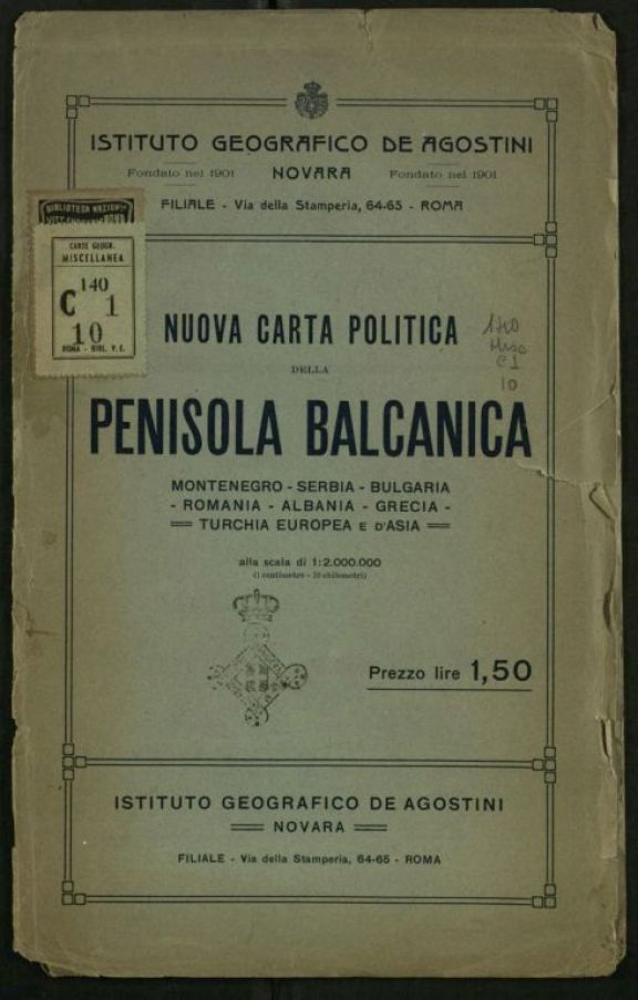 Nuova carta politica della Penisola Balcanica