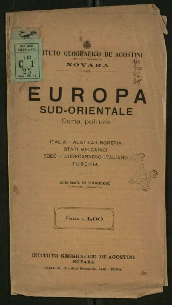 Europa sud-orientale  : carta politica