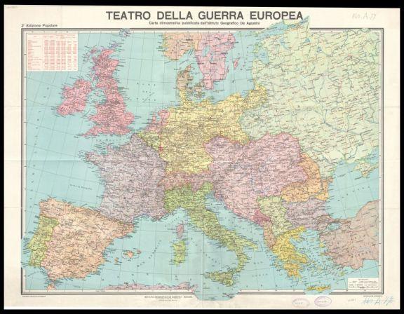 Teatro della guerra europea  : carta dimostrativa