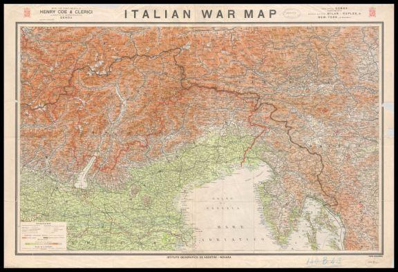 Italian war map