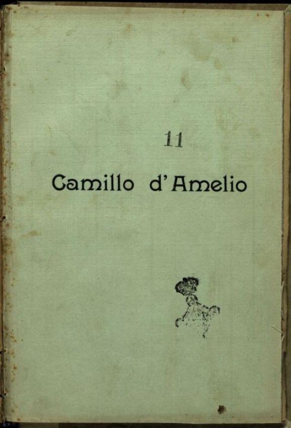 Camillo d'Amelio  : 1890-1915