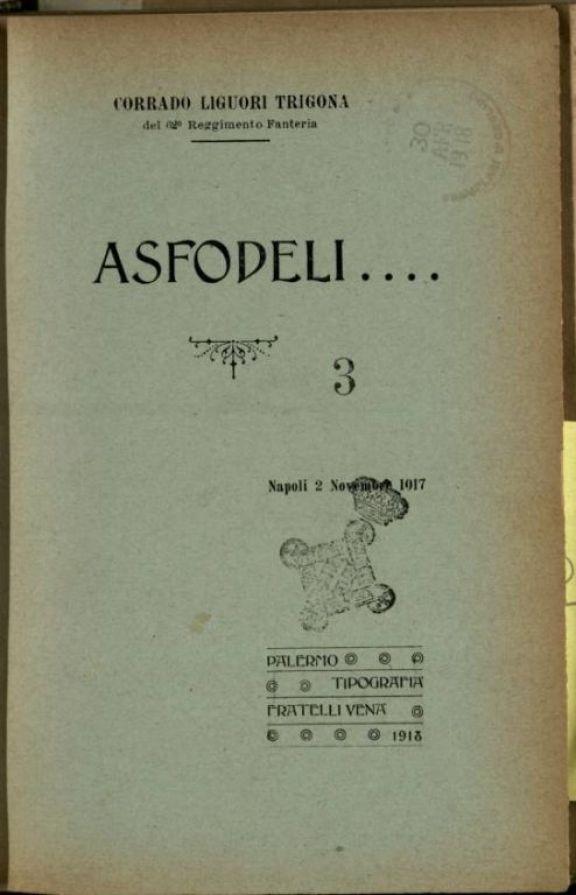 Asfodeli....  / Corrado Liguori Trigona