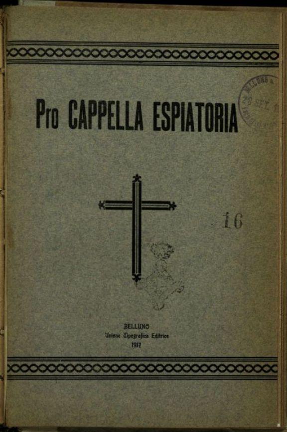 Alla cara memoria del prode sergente Lazzarin Luigi di Massimo  / elogio funebre tenuto dal molto reverendo don Tarquinio Reolon il 29 settembre 1916