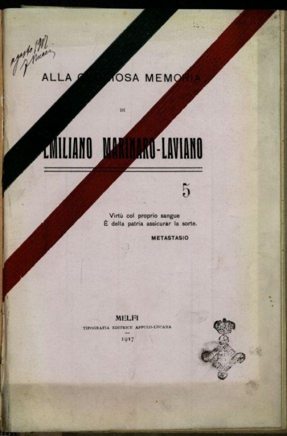 Alla gloriosa memoria di Emiliano Marinaro-Laviano