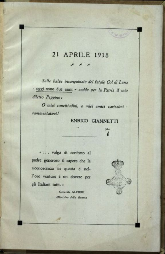 21 aprile 1918
