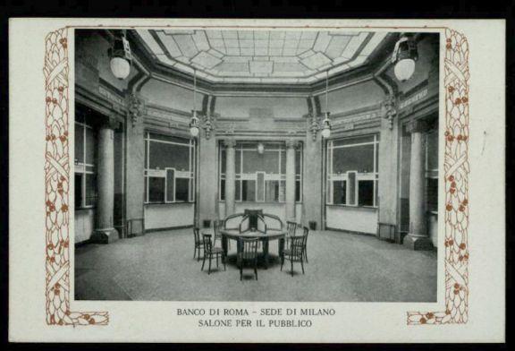 Banco di Roma sede di Milano, salone per il pubblico