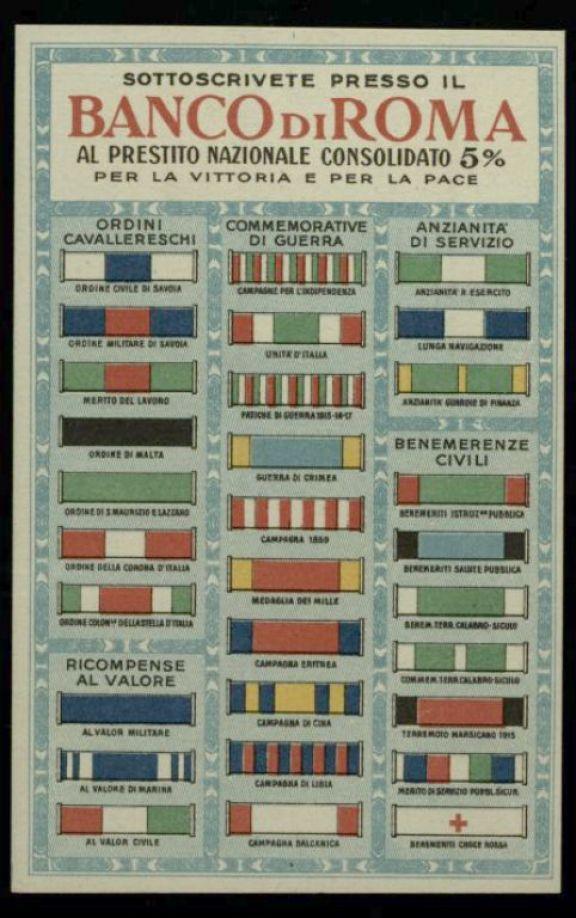 Sottoscrivete presso il Banco di Roma al prestito nazionale consolidato 5% per la vittoria e per la pace
