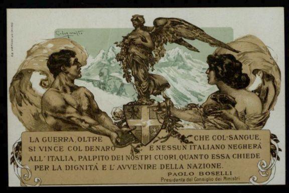 La *guerra, oltre che col sangue, si vince col denaro e nessun italiano negher