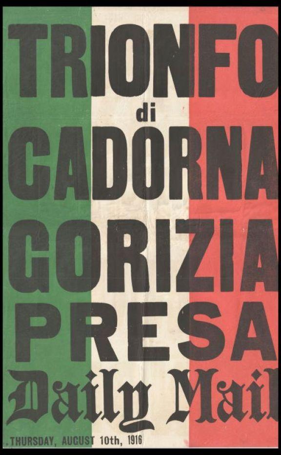 Trionfo di Cadorna  : Gorizia presa  : Daily Mail thursday, august 10th, 1916