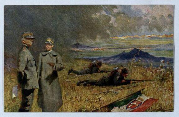 Vittorio Emanuele al fronte
