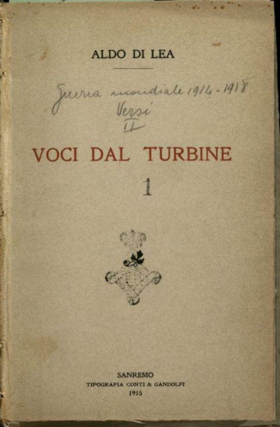 Voci dal turbine  / Aldo Di Lea