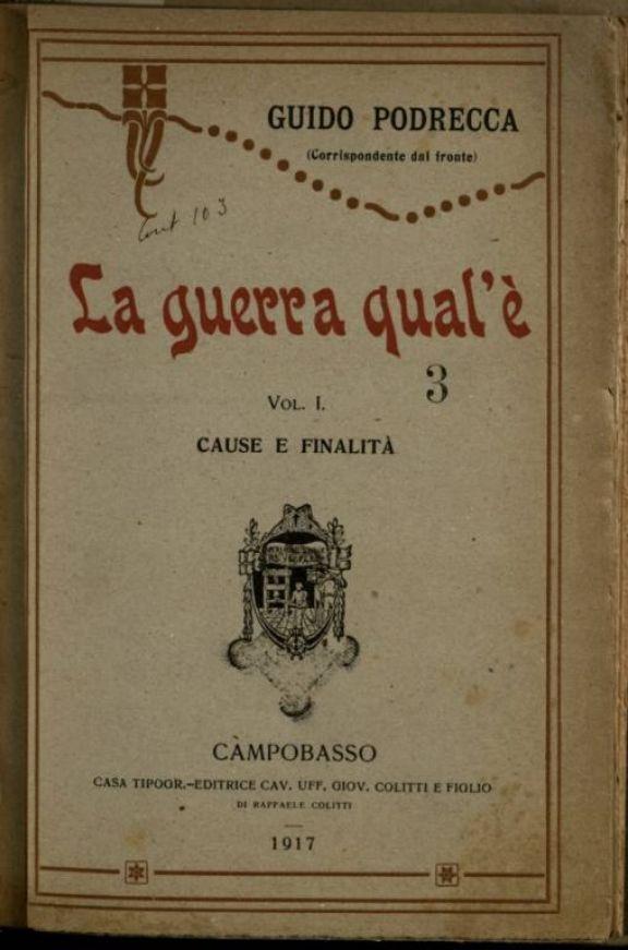1: *Cause e finalita  / Guido Podrecca