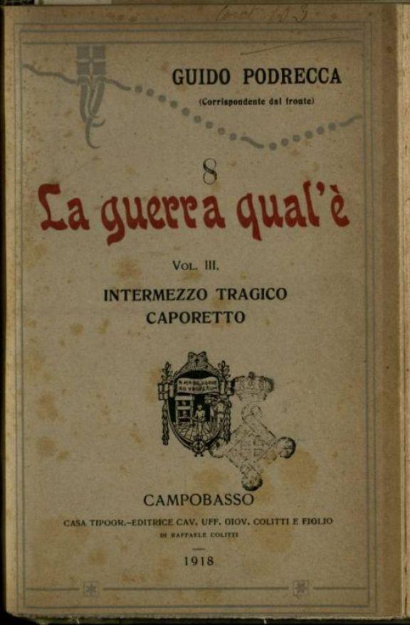 3: *Intermezzo tragico  : Caporetto  / Guido Podrecca