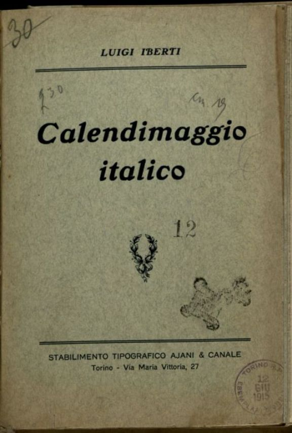 Calendimaggio italico  / Luigi Iberti