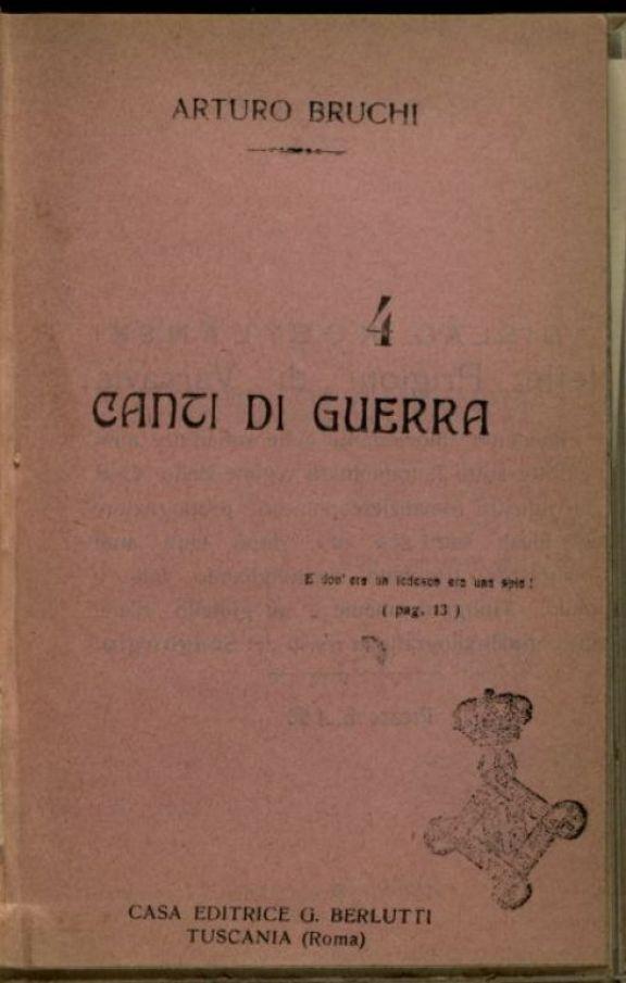 Canti di Guerra  / Arturo Bruchi