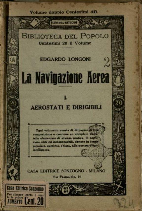 1: *Aereostati e dirigibili  / Edgardo Longoni