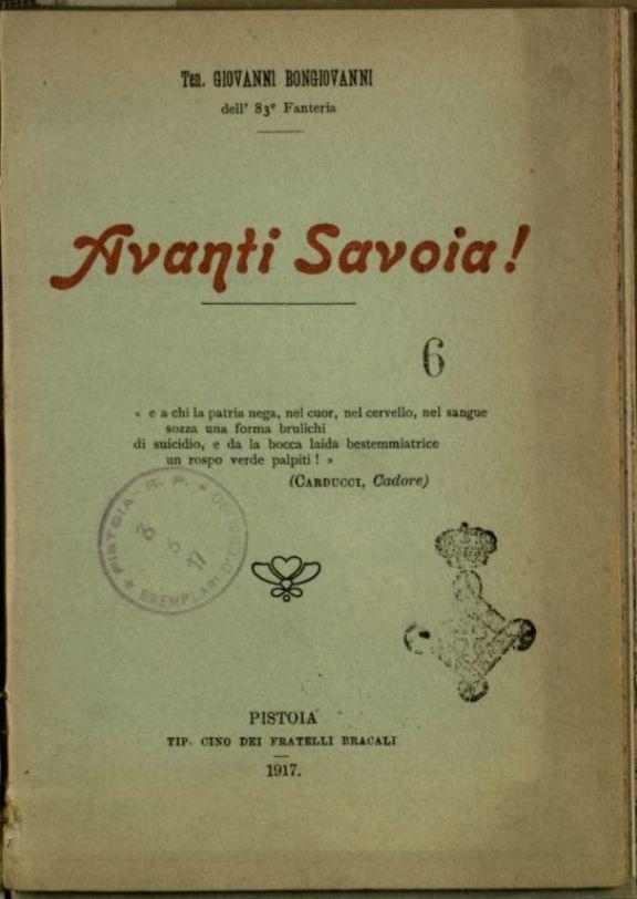 Avanti Savoia!