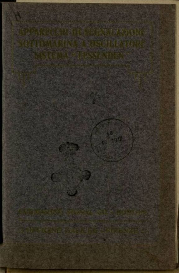 Apparecchi di segnalazione sottomarina a oscillatore  : sistema Fassenden