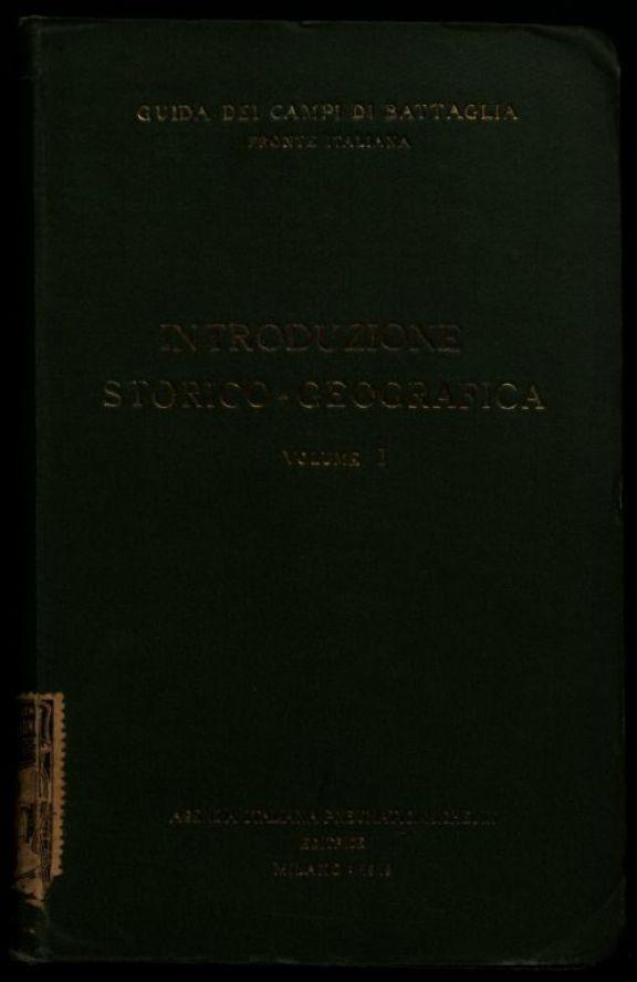 1: *Introduzione storico-geografica  / \Agenzia italiana pneumatici Michelin!