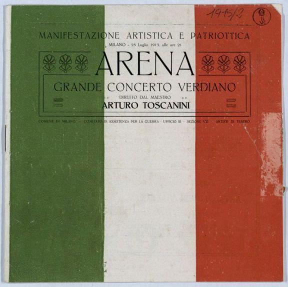 Arena  : grande concerto verdiano  / diretto dal maestro Arturo Toscanini