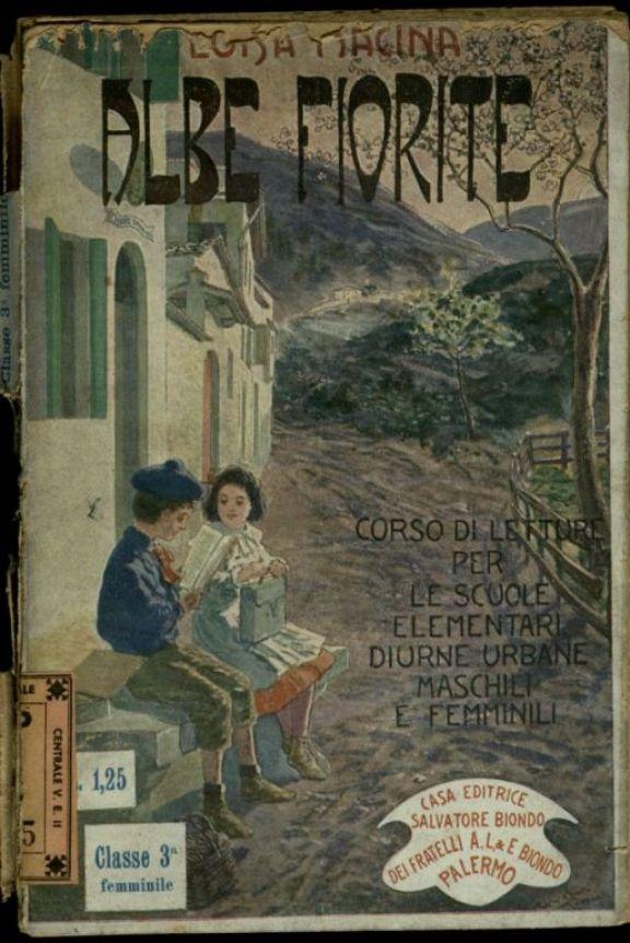 Albe fiorite  : libro di lettura educativa ad uso della terza classe elementare femminile  / Luisa Macina  ; illustrato da Lazzaro Pasini