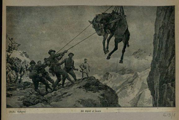 Gli alpini al lavoro
