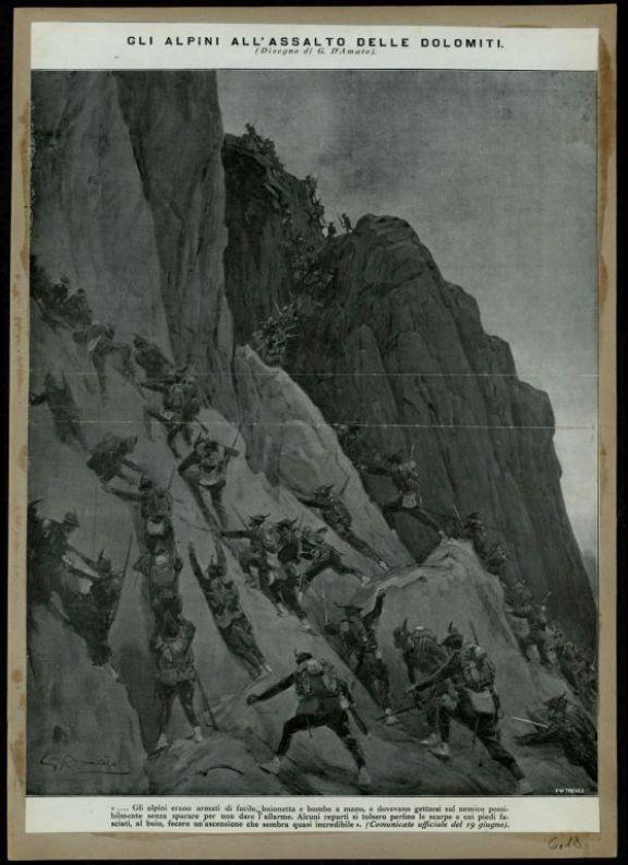 Gli alpini all'assalto delle Dolomiti