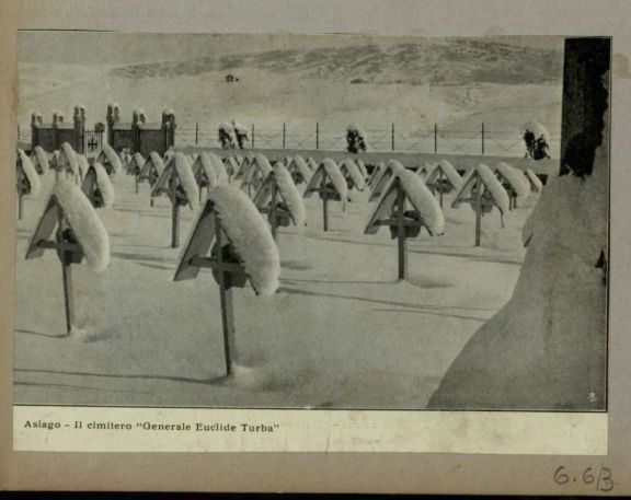 Asiago. Il cimitero Generale Eiclide Turba