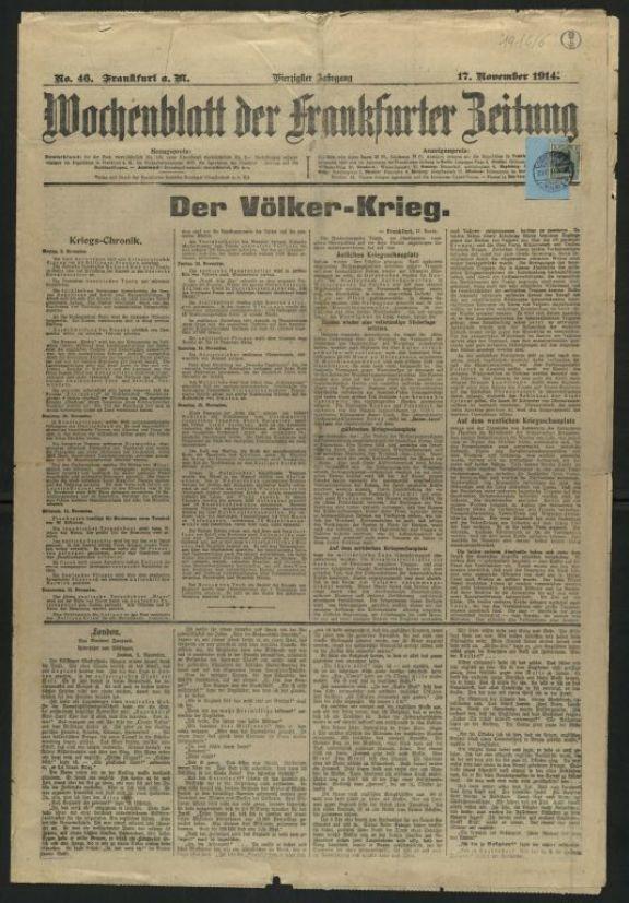 Wochenblatt der Frankfurter Zeitung