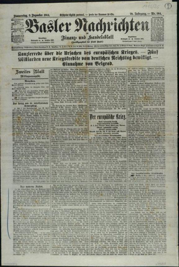Basler Nachrichten  : mit Finanz - und Handelsblatt
