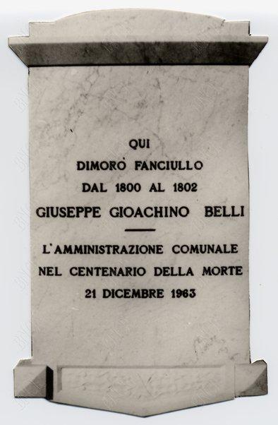 A Giuseppe Gioachino Belli