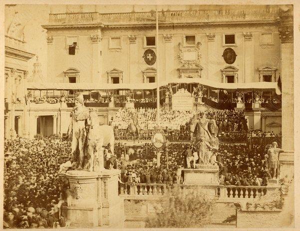 2 ottobre 1871. Festa del Plebiscito in Campidoglio