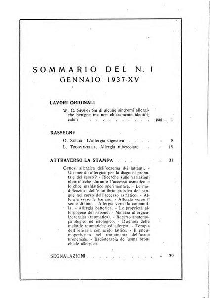 I quaderni dell'allergia rivista medica bimestrale