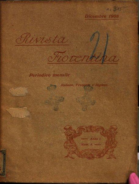Rivista fiorentina periodico mensile, italiano, francese e inglese