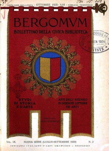 Bergomum bollettino della civica biblioteca