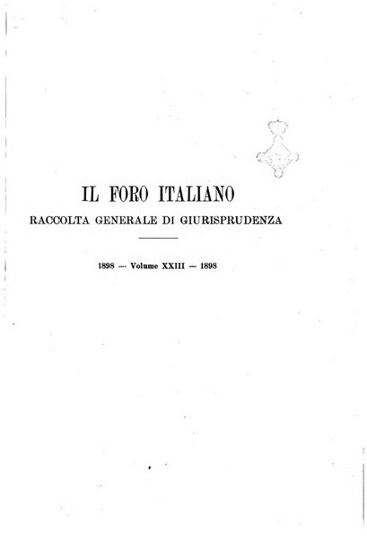 Il foro italiano raccolta generale di giurisprudenza civile, commerciale, penale, amministrativa