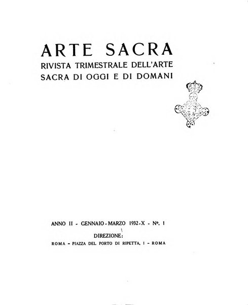 Arte sacra rivista trimestrale dell'arte sacra di oggi e di domani