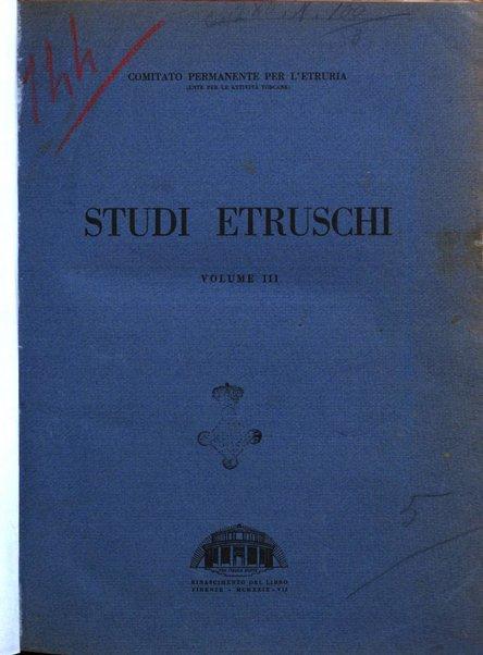 Studi etruschi