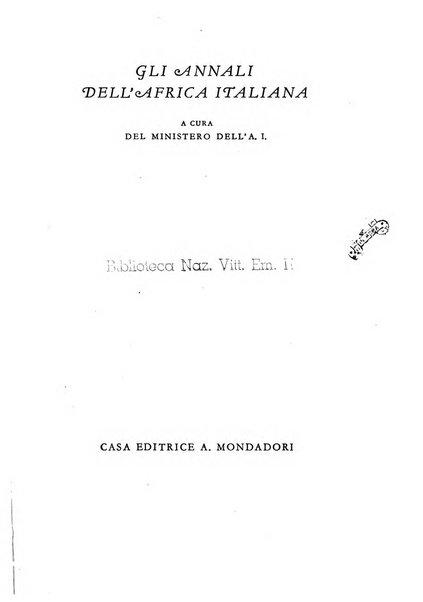 Gli annali dell'Africa italiana