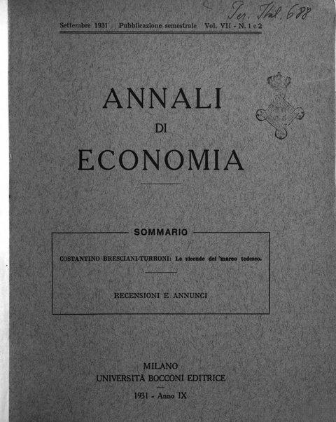 Annali di economia