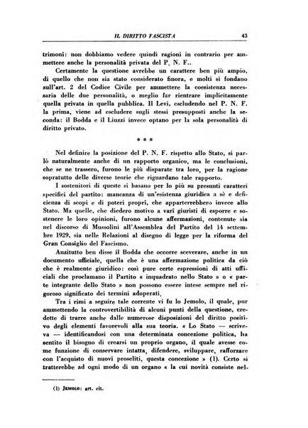 Il diritto fascista rivista di studio e commento delle leggi fasciste nella dottrina e nella giurisprudenza