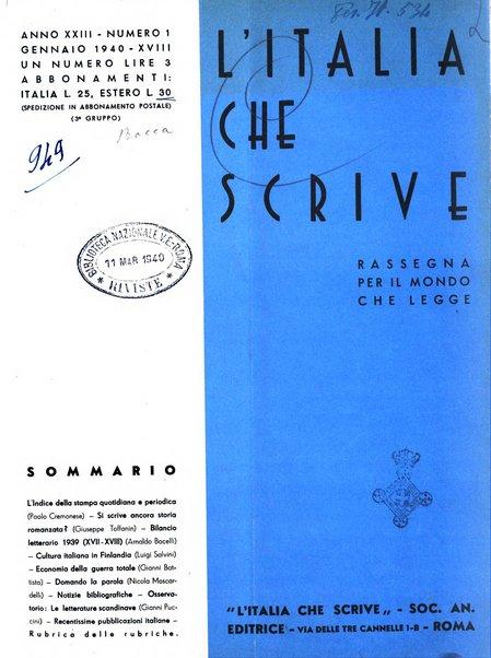 L'Italia che scrive rassegna per coloro che leggono