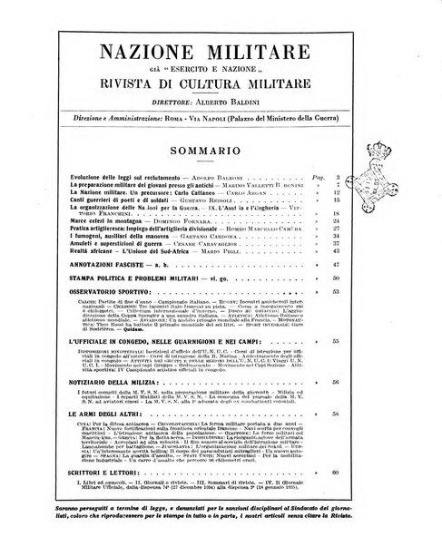 Nazione militare rivista di cultura militare