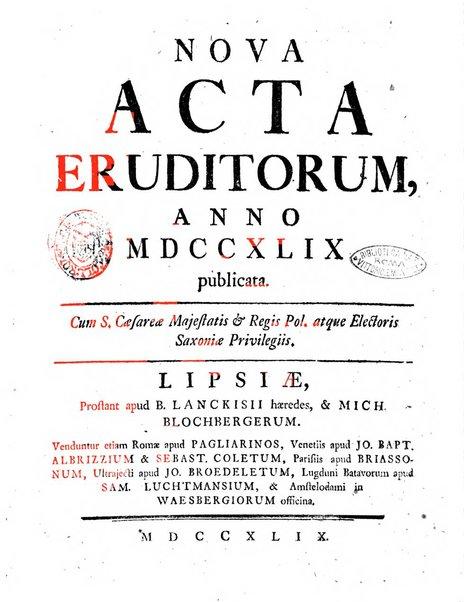 Nova acta eruditorum